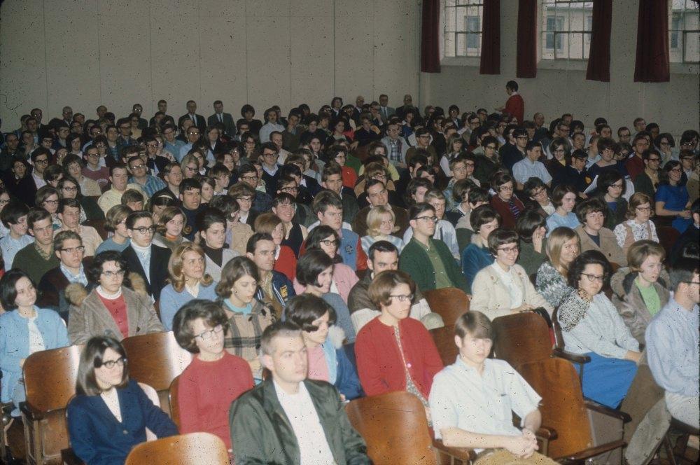 Chapel service -student body  1970